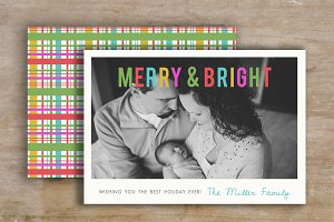 Colorful Holiday Card Template