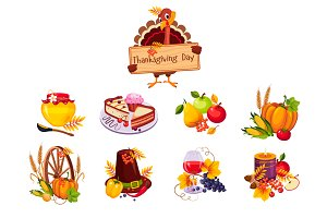 Thanksgiving decorative elements