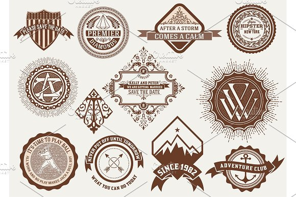 Logotypes, Insignias and Badges set.