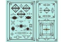 Retro set of vintage elements