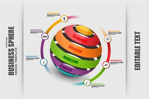 Business Timeline Sphere Infographic