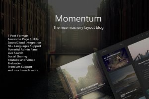 Momentum - WordPress Blog Theme