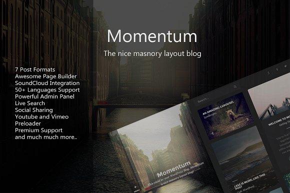 Momentum - WordPress Blog Theme