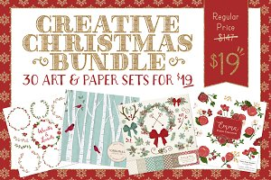 Huge Christmas Art Bundle - Save 87%