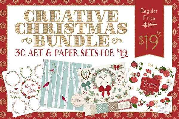 Huge Christmas Art Bundle - Save 87…