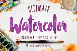 Watercolor KIT for Illustrator