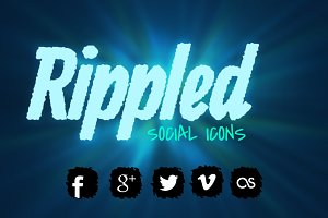 Social Icons Rippled