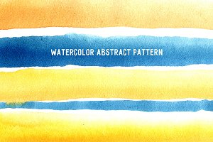 Watercolor abstrac pattern