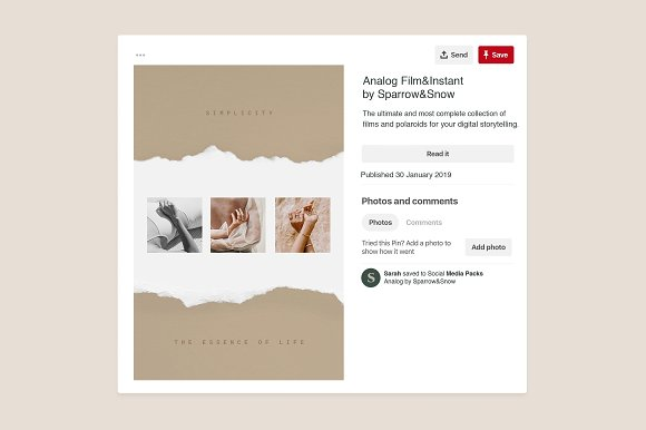 Paper and Film Social Kit in Instagram Templates - product preview 8