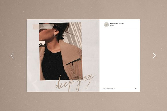 Paper and Film Social Kit in Instagram Templates - product preview 10
