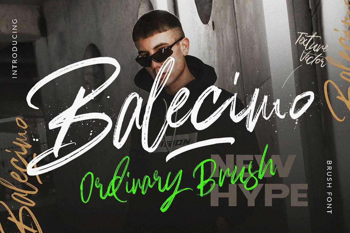 Balecimo - Ordinary Brush Font