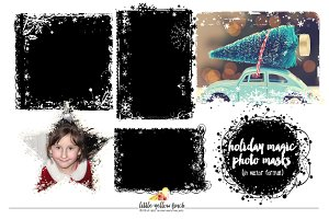 Holiday Magic Photo Masks