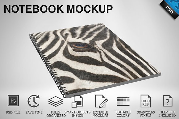 Notebook Mockup 01 in Product Mockups