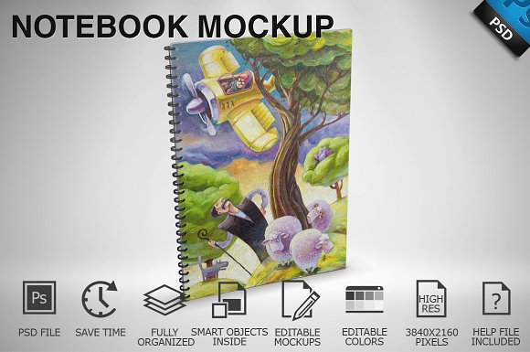 Notebook Mockup 02