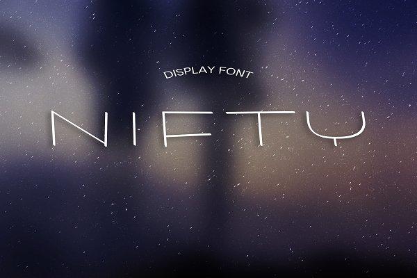 NIFTY font