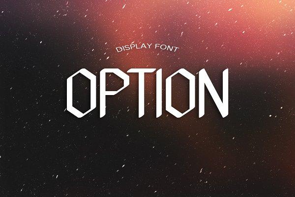 OPTION font