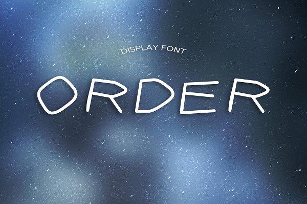 ORDER font