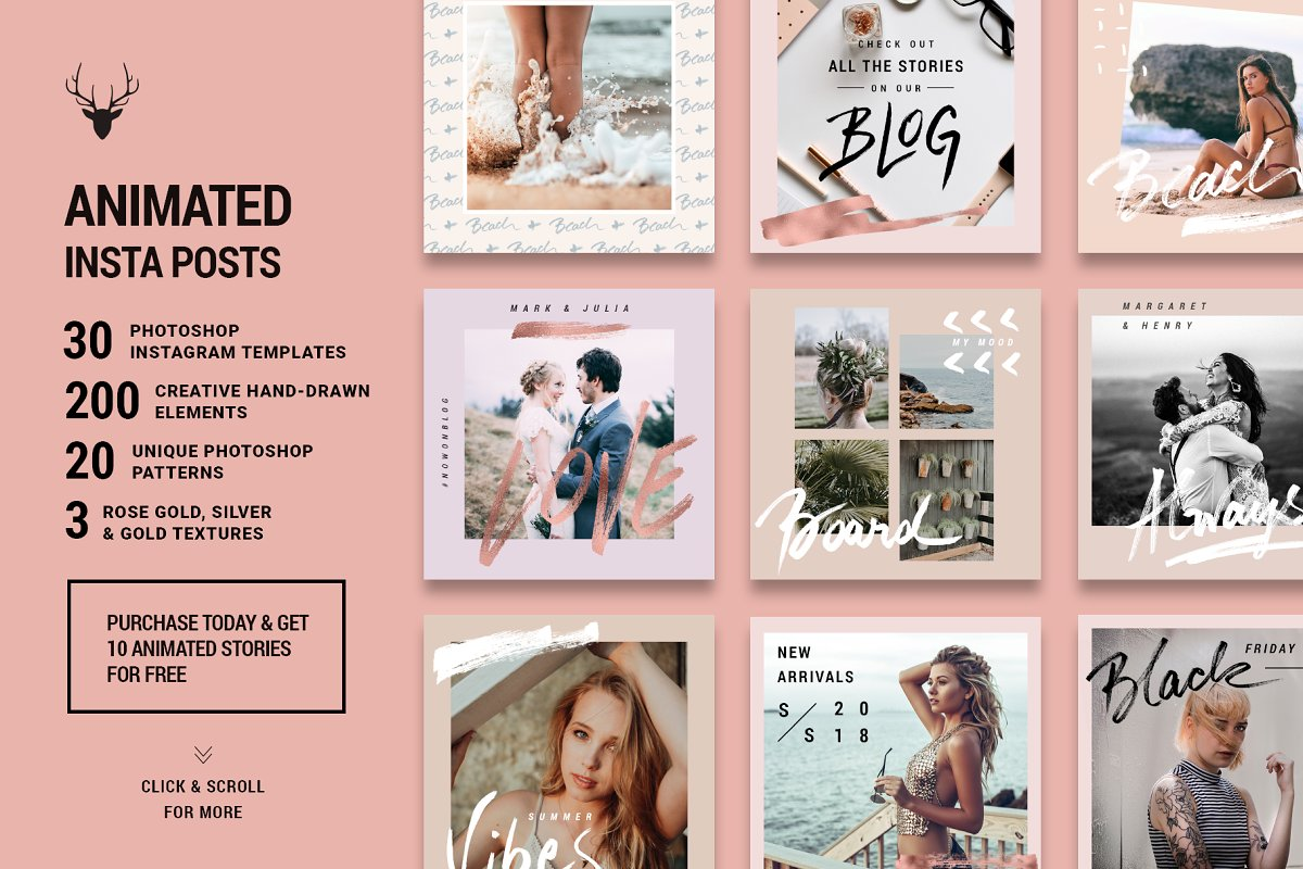 Ultimate Instagram Bundle + Updates in Instagram Templates - product preview 9