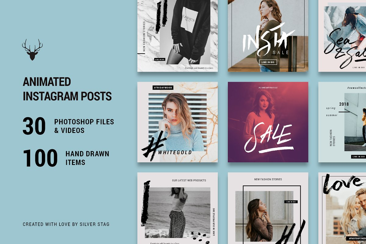Ultimate Instagram Bundle + Updates in Instagram Templates - product preview 7