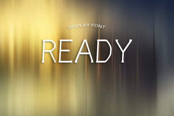 Best READY font Vector