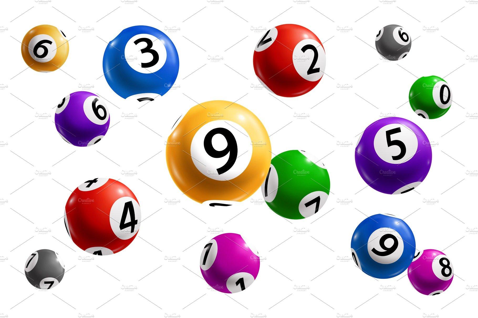 Bingo, lotto and keno lottery balls   Pre-Designed Vector Graphics ~  Creative Market