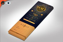 Art Deco Gala Ticket Template