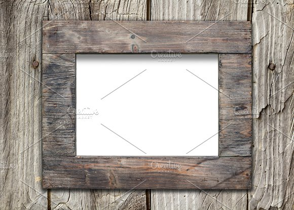 empty frame on wooden surface product mockups - Empty Frame