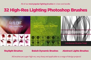 32 Varied Photoshop Lighting Brushes