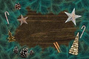 Holiday Custom Mock up Scene PSD