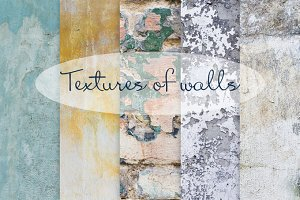 Textures of walls (5 photos)