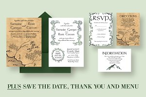 Ye Olde Wedding Invitation Suite