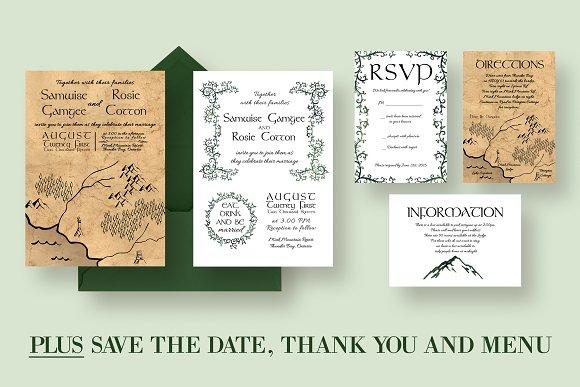 ye olde wedding invitation suite invitation templates creative