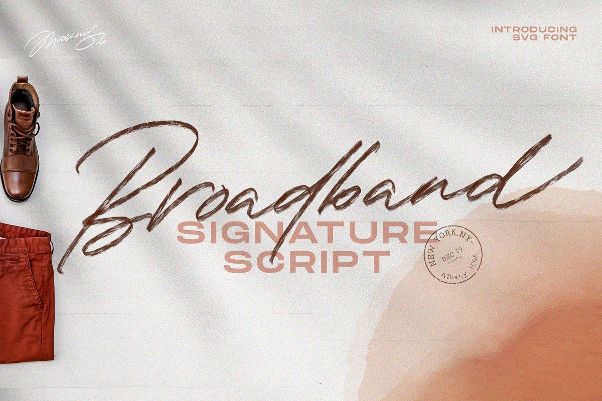 The Broadband - Signature Script