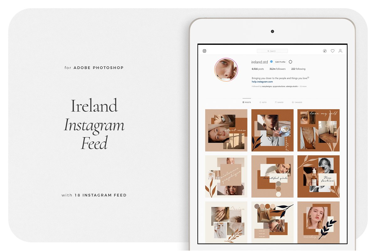 IRELAND Instagram Feed in Instagram Templates - product preview 8