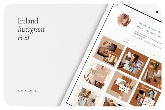 IRELAND Instagram Feed in Instagram Templates - product preview 5