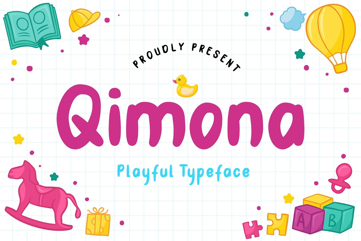 Qimona - Playful Typeface