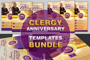 Clergy Anniversary Templates Bundle