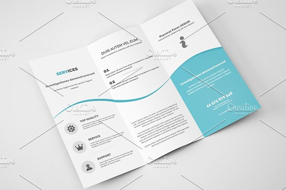 Business Trifold Brochure Letter Brochure Templates Creative