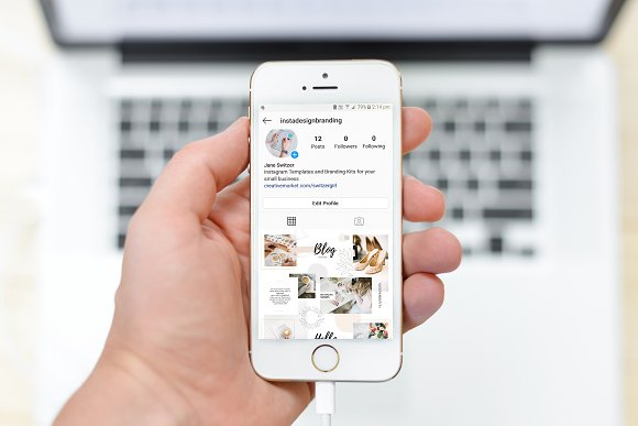 Instagram Feed Seamless Puzzle-2 in Instagram Templates - product preview 3