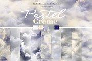 Pastel Creme Watercolor Backgrounds