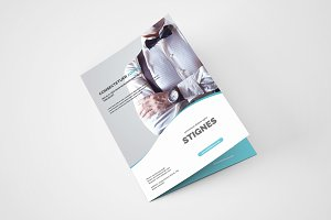 Business Bi Fold Brochure - A4