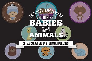 Hand-Drawn Baby & Animal Graphics