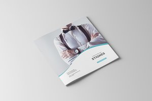 Square Business Bifold Brochure
