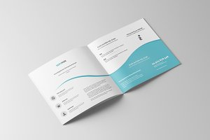 Square Business Bifold Brochure
