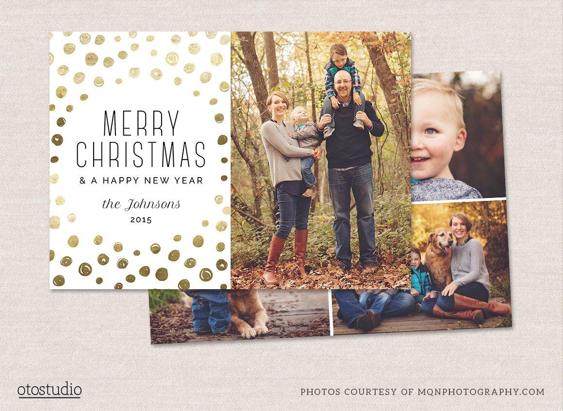 Christmas card template cc081 card templates creative market for Free christmas card templates for photoshop