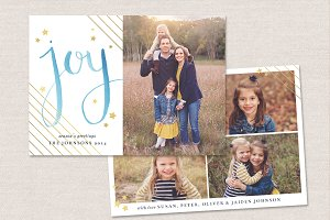 Christmas Card Template CC067