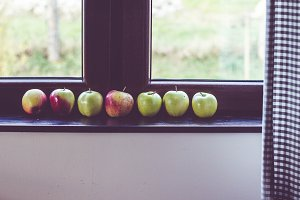 Apples by the window
