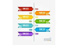 Timeline Year After Year. Vector