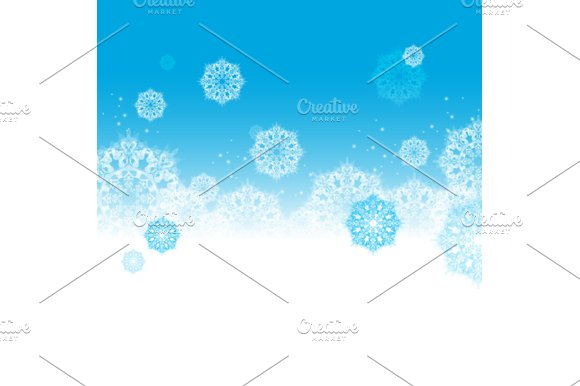 Snow Background. Vector - Illustrations