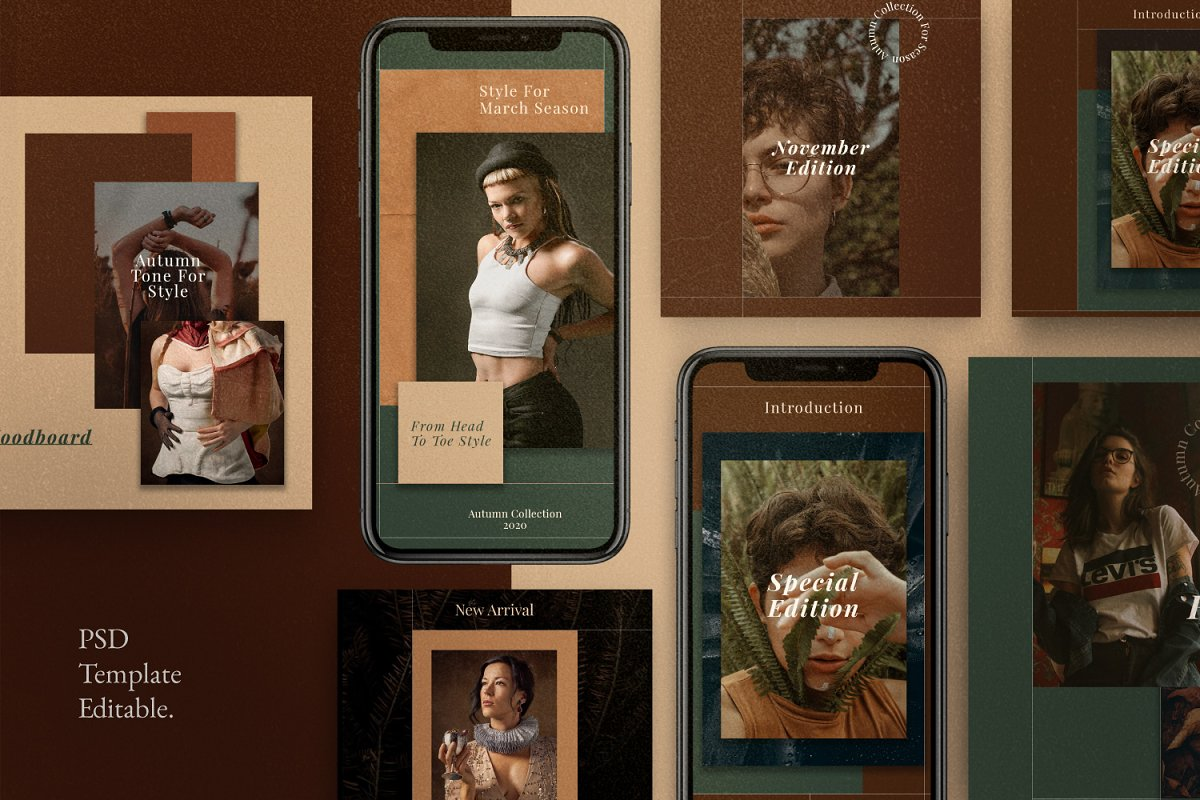 Autumn - Social Media Post + Stories in Instagram Templates - product preview 8